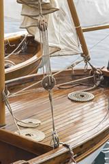 Détail bateau ancien en bois