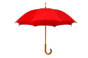 Open red umbrella