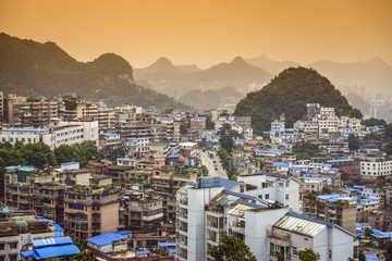 Guiyang, China afternoon Cityscape