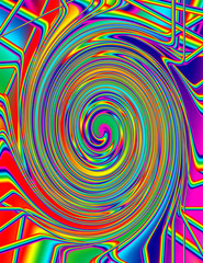 Abstract psychedelic spiral background image
