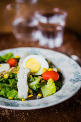 Green salad with vegetables
