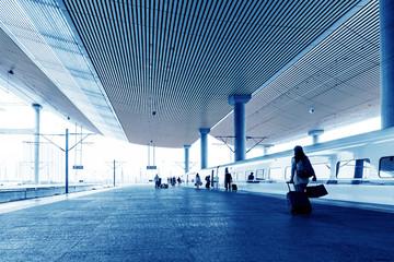 Fotobehang Treinstation Train station