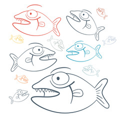 Abstract Vector Fish Illustration