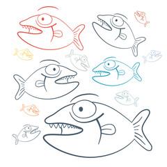 Abstract Vector Fish Illustration