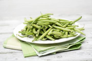 Gartenbohnen (Phaseolus vulgaris), Fisolen oder Grüne Bohnen