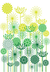 color vector flowers background