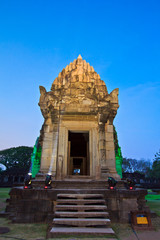 Phimai Historical park at night, Thailand