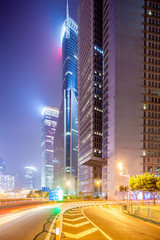 the modern building background in shanghai china.