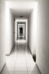corridor of a building apartments