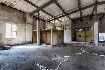 destroyed warehouse