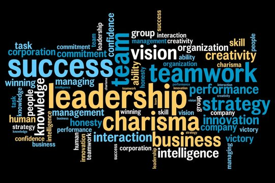 Business leadership - word cloud concept