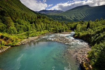 Wall Mural - Norwegia, piękny krajobraz