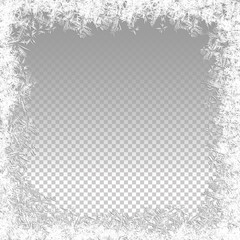 Transparent Vector Frozen Background