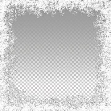 Transparent Vector Frozen Background