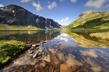 Wall Mural - Norwegia, Lofoty, Groti, piękny krajobraz
