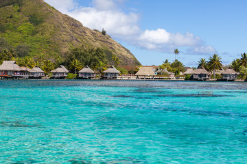 French Polynesia, moorea overwater bungalows