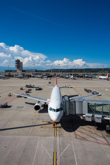 Panorama of Zurich Airport