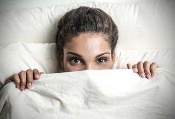 hiding behind the sheets