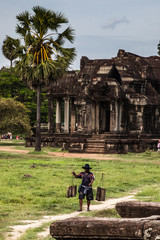 cambodian landscape in angkor wat