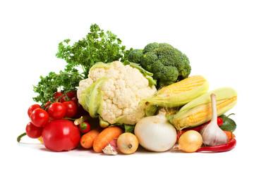 Foto op Plexiglas Groenten vegetables isolated on a white background