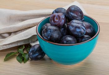 Ripe fresh plum