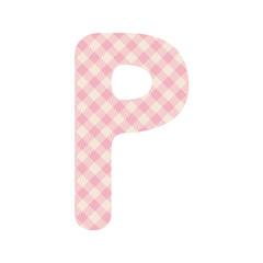 Pink squares pattern alphabet P