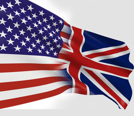 United Kingdom and United States of America flag