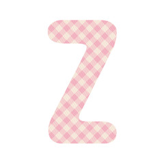 Pink squares pattern alphabet Z