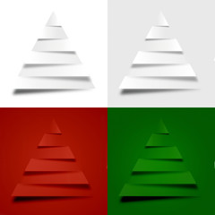 4 abstract christmas trees