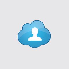 Blue profile icon.