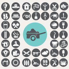 Gardening icons set. Illustration eps10