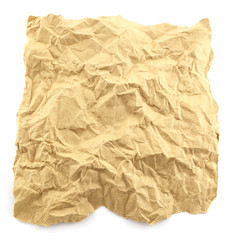Paper texture brown paper sheet on white background