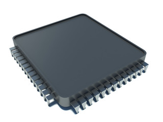Microprocessor. 3d illustration on white background