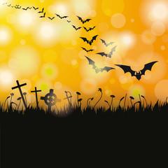 Halloween Flyer Bats