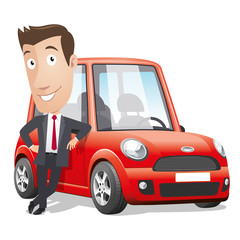 Cartoon character - Red car