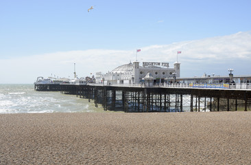 Brighton Pier and beach. England