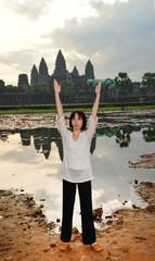 Yoga woman in the morning