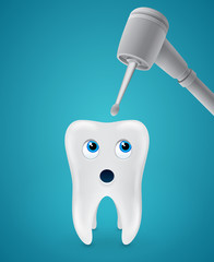 Tooth afraid dental drilling