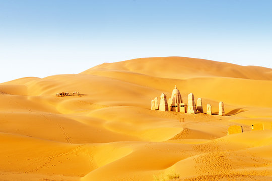 The desert in Xinjiang