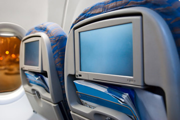 Passenger entertainment displays in the aircraft