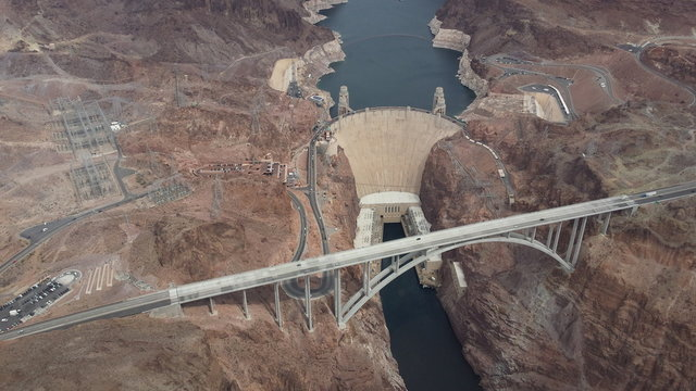 View of hoover dam from the air