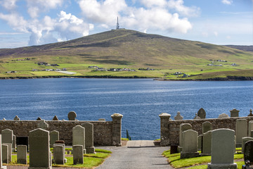 Shetland Landscape with cemetery