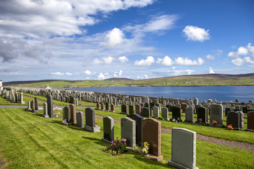 Shetland Landscape with cemetery3