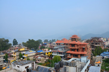 Cityscape of Pokhara in Annapurna Valley Nepal