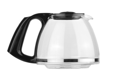 Empty coffee pot isolated with clipping path