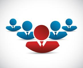 teamwork and leader illustration design