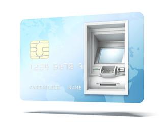 Atm machine in credit card