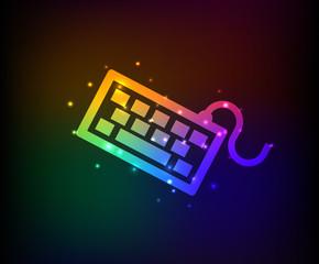 Keyboard symbol,Rainbow vector