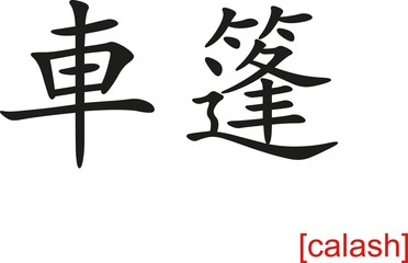 Chinese Sign for calash