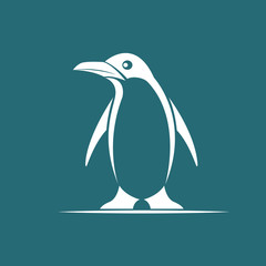 Vector image of penguin